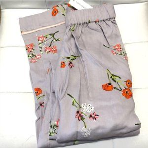 TOPSHOP Poppy Print Pajama Pants Size 4